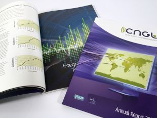 Annual Report Design - Cover and Inside Spread – CNGL