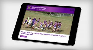 Responsive Website Design - Homepage Design – Tablet - Kilmacud Crokes