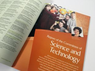 Annual Report Design - Internal Spread, Science and Technology - RDS
