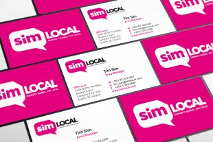 Corporate Identity Design - SIM Local Business Cards