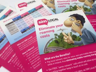 Flyer design - Eliminate Your Roaming Costs – SIM Local