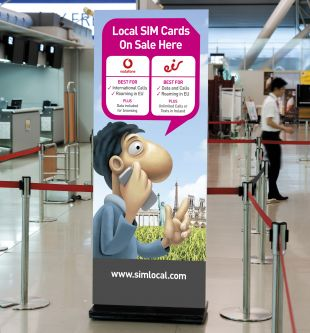 Roll-up Banner Stand Design - SIM Local