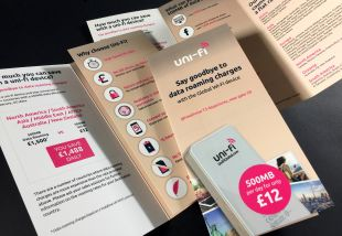 Fold-out Brochure Design - Say Goodbye to Data Roaming Charges - Uni-fi