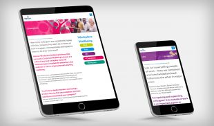 Responsive Website Design - Champions and Life Service Pages - Tablet and Mobile - Weston Workplace Wellbeing