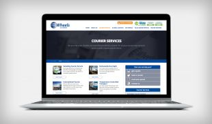 Responsive Website Design - Courier Services Page - Wheels We Deliver