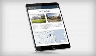 Responsive Website Design - Location Page on Tablet - Taylor's Lane - GVA Donal O Buachalla