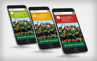 Responsive Website Design - Emergency Banners on Mobile - St Patrick's Boys' National School