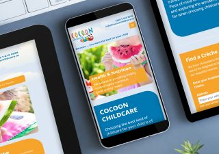 Responsive Website Design - Mobile and Tablet - Cocoon Childcare